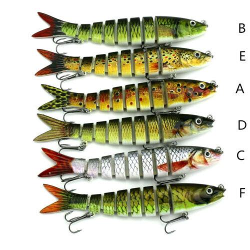 New 6pcs//Lot Proberos Fishing Lure 8 Sections Swimbait Bait Tackle 13cm//19g RF