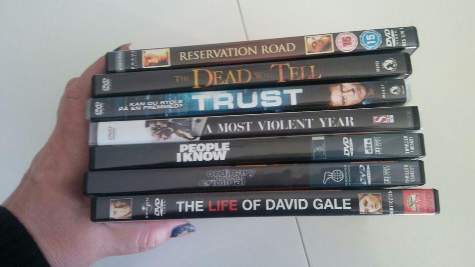 Blandet, DVD, thriller
