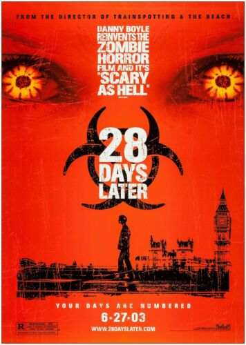 28 Days Later Horror Classic Movie Poster Print A0 A1 A2 A3 A4 Maxi