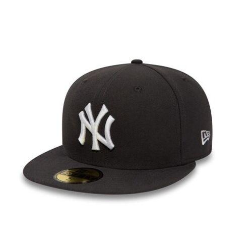 New Era 59FIFTY MLB New York Yankees Dark Grey Hat League Fitted Baseball Cap