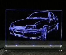 Opel Kadett E Cabrio   Gravur LEUCHTSCHILD LED - GSI