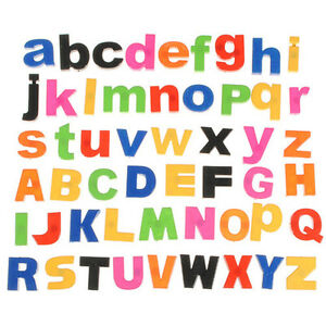 52 Lower/Upper Case ALPHABET LETTERS Kids Childrens Learning Magnetic Fridge TOY