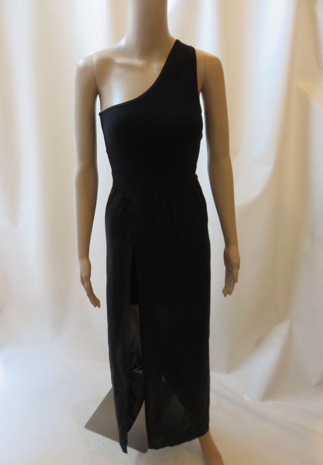 Stretta Jessica schwarz One Shouler Form Fitting Illusion Dress Größe XS