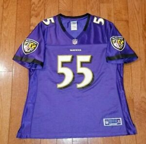 Details about TERRELL SUGGS #55 Baltimore Ravens NFL Reebok Jersey Womens LARGE Purple