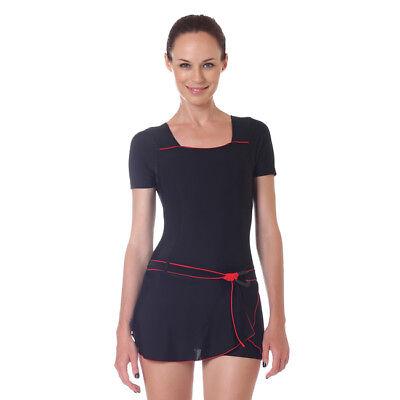Women Boyleg Swimsuit Ladies Boy Shorts Swimwear One Piece Bathing Suit Black sold by Aroona