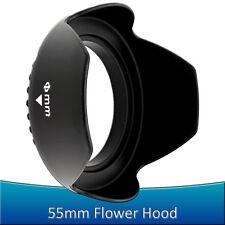 55MM Petal Flower Lens Hood for Sony Alpha Nex 18-55mm A55 A65 A35 A77