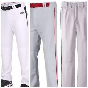 Boys Baseball Pants Rawlings Easton Champro Youth White Gray Red Green Black $54