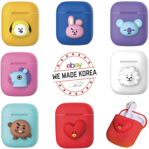 BT21-Character-Airpod-Case-Basic-Silicone-Cover-Skin-Official-K-POP-Authentic-MD