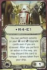 X-Wing Miniatures R4-D6 Astromech upgrade card 1.0