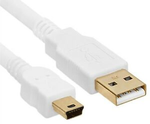 Usb 2.0 Mini Type B Câble De Données Court Blanc 50cm Conduire à Un Mâle Hq Or Contacts-afficher Le Titre D'origine Xzis9tgd-07161243-771625770