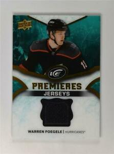 2018-19-18-19-UD-Upper-Deck-Ice-Premieres-Jerseys-IPJ-WF-Warren-Foegele
