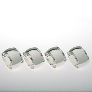 versilbert Contacto Serviettenring ovale Form Set a 4 St/ück