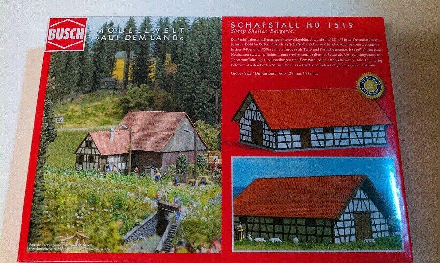 Busch 1519 - - - 1 87   H0 Schafstall - Neu 574e1f