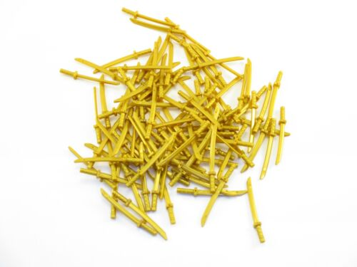 LEGO Pearl Gold Minifig Weapon Sword Lot of 50 Parts Pieces 21459