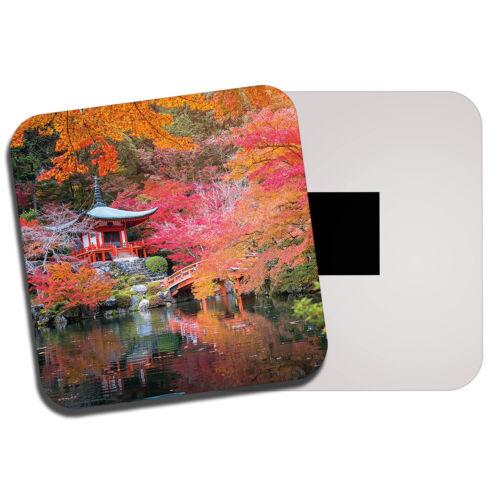Japanese Garden Fridge Magnet Japan Cherry Blossom Pagoda Pretty Gift #8830