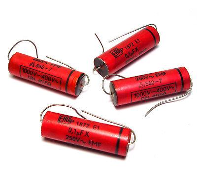 10 pcs of Vintage Ero EROFOL I Audio Capacitors 0.01 µF NOS 400 V Tone Cap