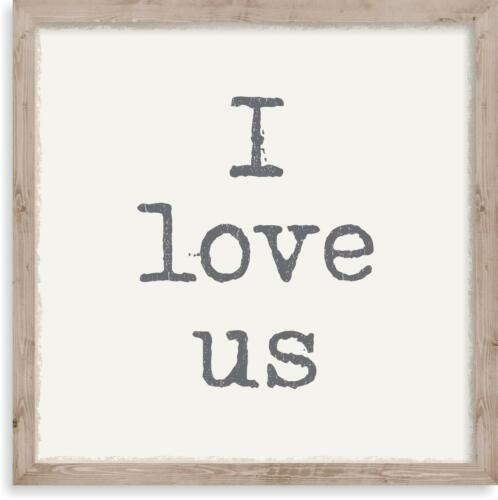 SIXTREES I Love Us 10X10 Inch Wood Decorative Box Sign
