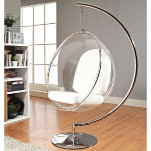 Image Is Loading Eero Aarnio Standing Hanging Bubble Chair With White  Home Design Ideas