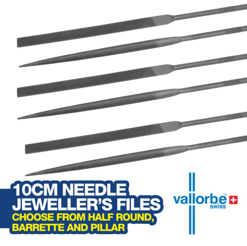 Choose from several Shapes and Cuts Vallorbe Swiss Made Needle Files