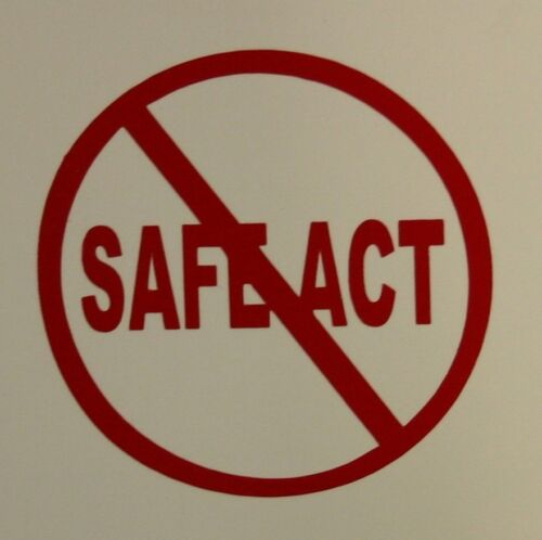 """Red NO Safe Act NY 2/"""" Gun Decal Sticker for Window Helmet Phone"""