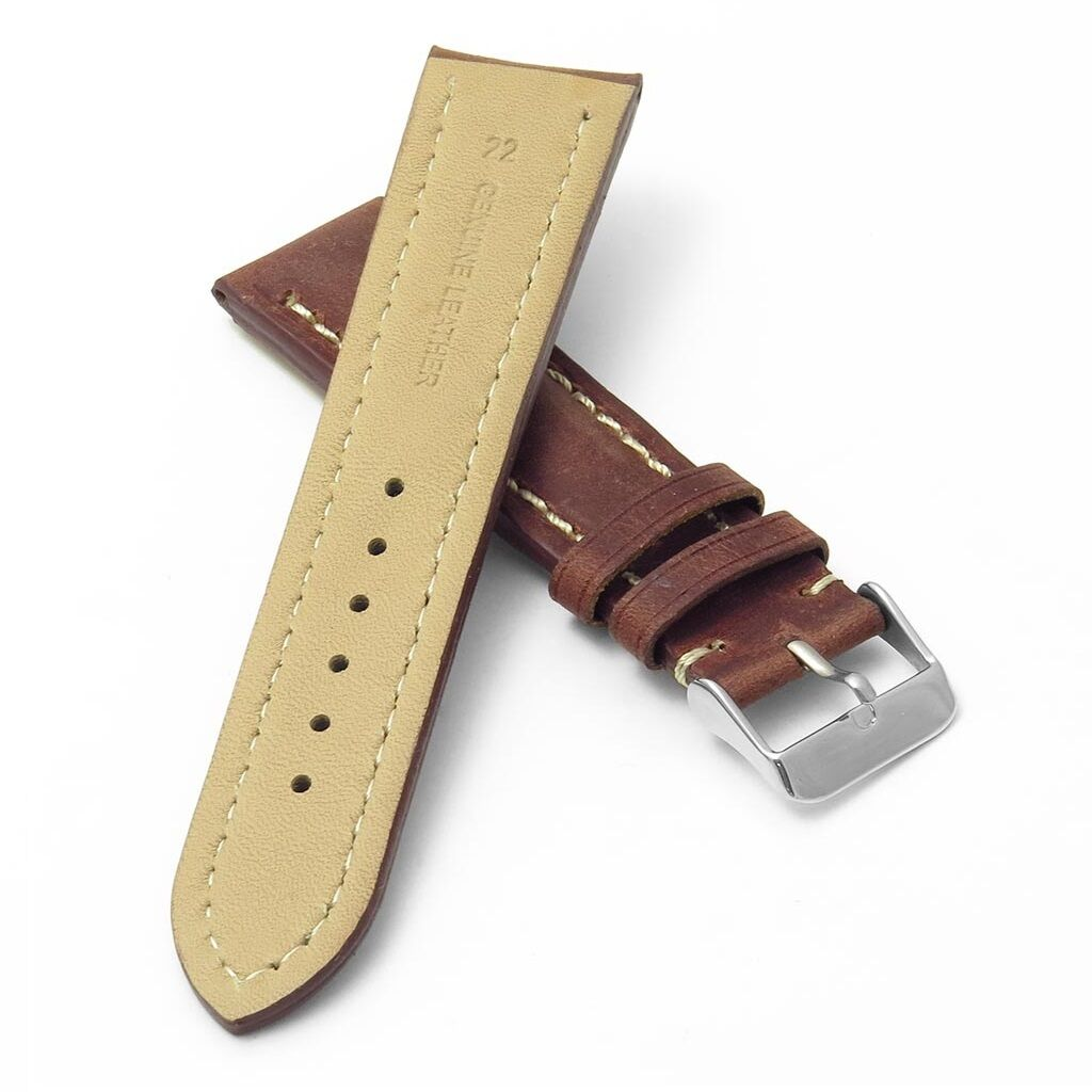 Italian Bands: DASSARI Avant Distressed Italian Leather Watch Band Strap