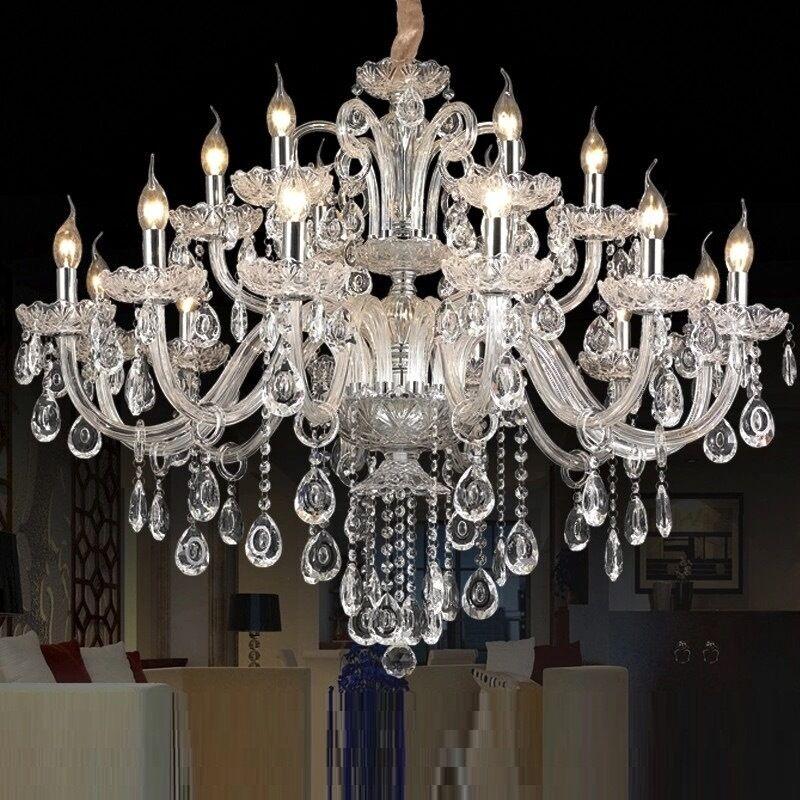 Crystal chandelier Light Luxury Modern Lamp chandelier Lighting champagne
