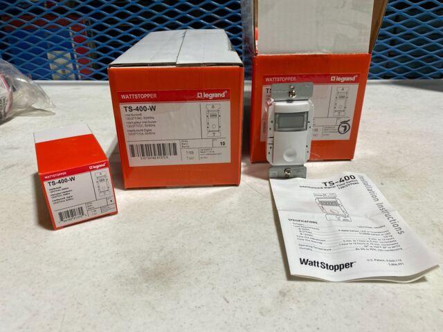 Legrand Wattstopper TS-400-W InteliSwitch Digital Time Switch 120//277VAC One 1