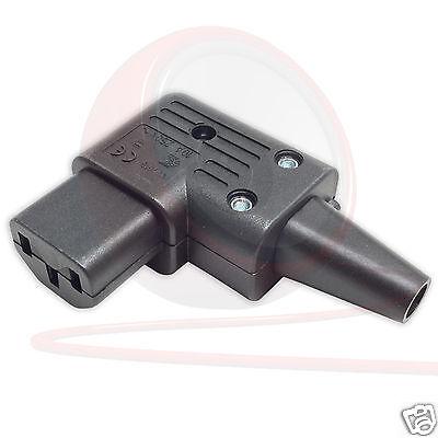 Schurter abgewinkelt IEC C13 Buchse Kabel Befestigung wiederanschließbar Kettle