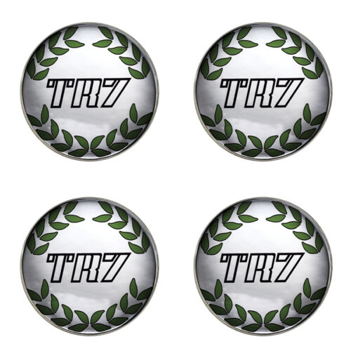 Triumph TR7 couronne blanc b//g logo self adhésif lot de 4 gel roue centres