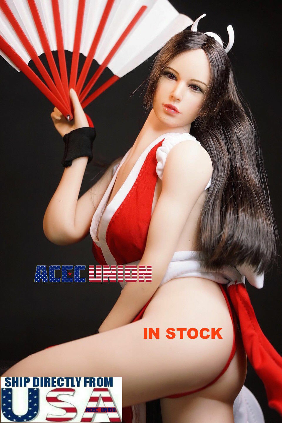1  6 The King Of Fighters Mai Shiranui Sexy Doll Full Set with PhICEN S10D USA