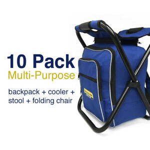 Magnificent Details About Bulk Lot 10 Pack Multi Purpose Folding Stool Insulated Cooler Bag Backpack Chair Forskolin Free Trial Chair Design Images Forskolin Free Trialorg