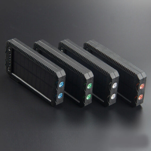 20000mAh Waterproof Solar Power Bank Cigarette Lighter External Battery Charger