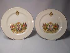 "PAIR Soho Pottery EDWARD VIII CORONATION Plates 7.25"" 18.5cm Solian Ware Plate"