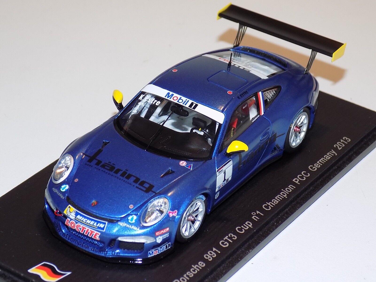 1 43 Spark Porsche 911  991   GT3T Car  1 German PCC Champion  SG109
