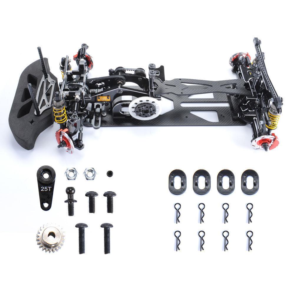 1 10 4WD Châssis en alliage et fibre de carbone G4 pour voiture de conduite HSP