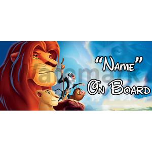 Personnalisé Disney Prince À Bord Voiture Signe-Bébé à bord-SIMBA ROI LION