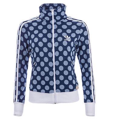 Adidas Originals Firebird Track Top Jacket Womens Track Jacket Blue White  Dots | eBay