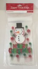 12 X Festivo Navidad Muñeco de nieve bolsas con cremallera dulces Galletas de Chocolate botín Navidad