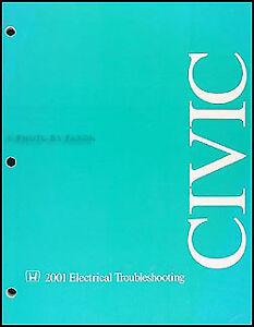 2001 Honda Civic Electrical Troubleshooting Manual Wiring Diagrams Original Oem Ebay