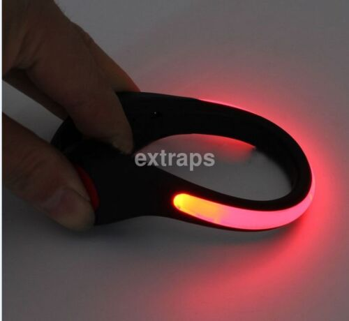 LED Luminous Shoe Clip Light Night Safety Warning Light For Outdoor Sports New