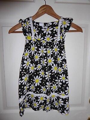 Wonder Kids Black Dress White Daisys Flowers Summer Girls Toddler Size 5t Lace Ebay