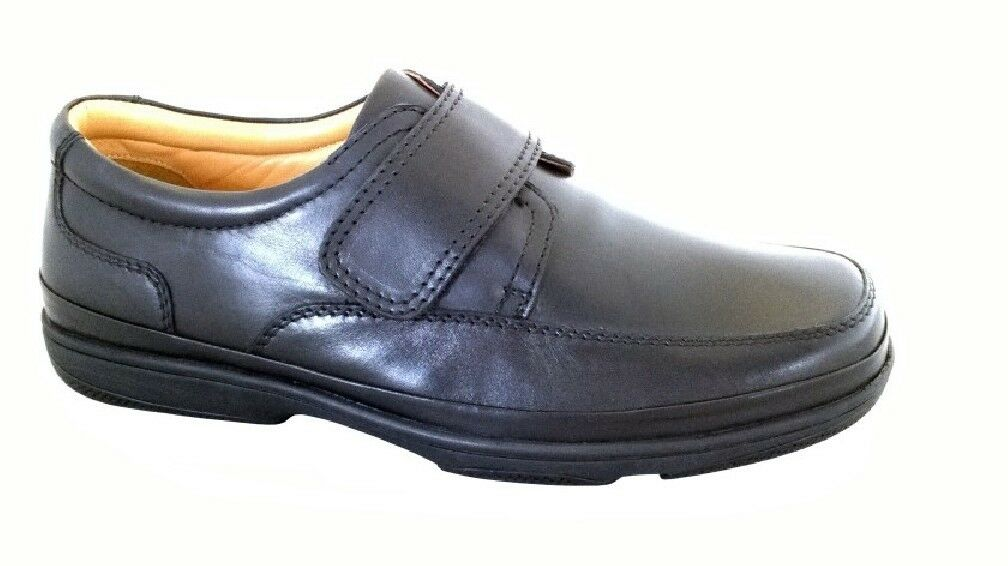 Men's/Women's Mens Roamers Leather Fasten SUPERLIGHT Touch Fasten Leather Wide Fit Comfort Shoes economic Elegant and sturdy packaging Direct business RW3339 861ca0