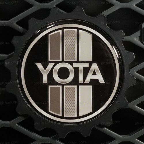"""TEQ Means Vintage Toyota Custom 3.5/"""" Badge Compatible With:Toyota/'s Monochrome"""