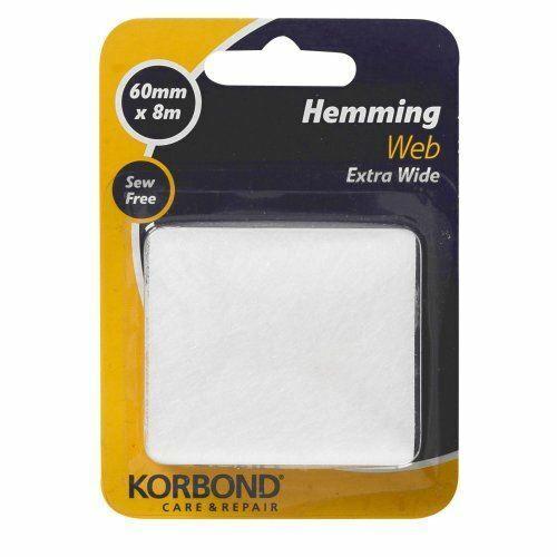 pour Hemming collage et craft étude du Korbond Extra Large HEMMING WEB 60 mm x 8 m