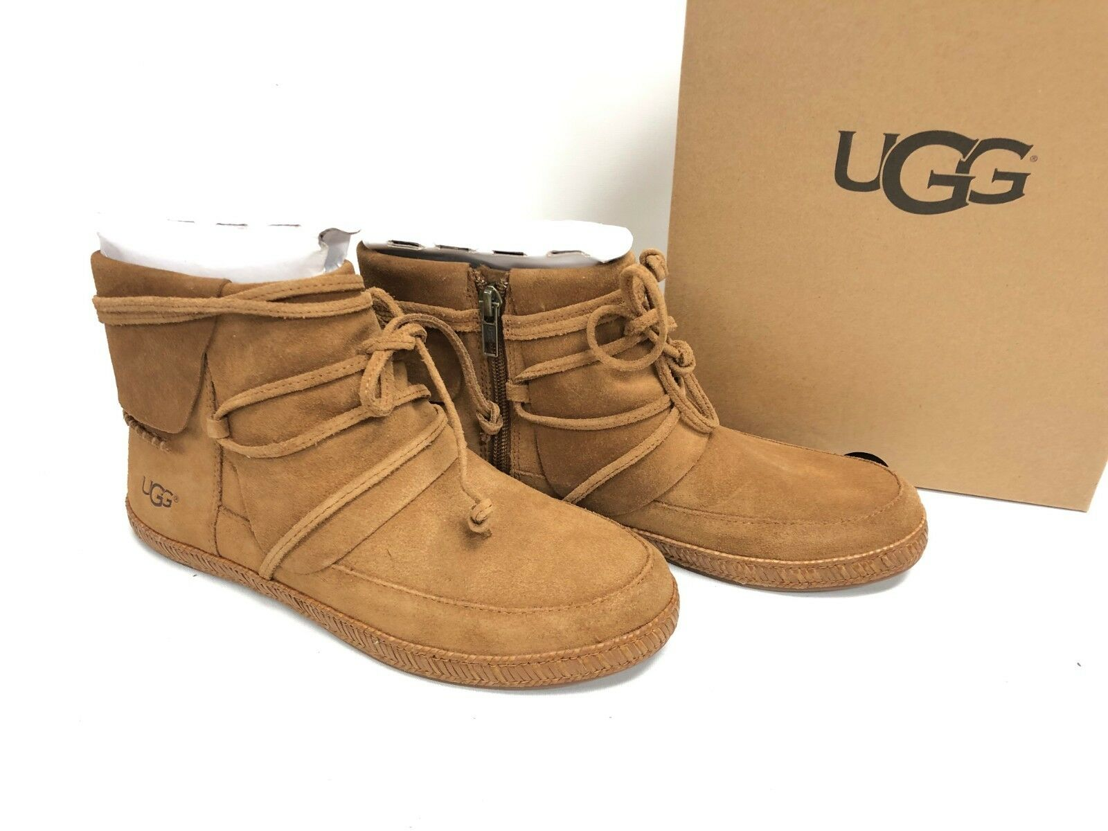 078ad3cf736 UGG Womens Reid Short Boot 1019129 Chestnut Size 7.5