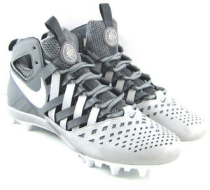 ead7e10dc87 NIKE HUARACHE V5 LAX Lacrosse Cleats Shoes Grey White 807142-010 ...