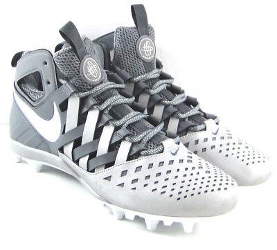 NIKE HUARACHE V5 LAX Lacrosse Cleats Shoes Grey//White 807142-010  Men/'s 10