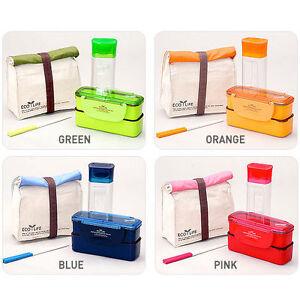 lock lock mini lunch box bento set w bottle chopstics. Black Bedroom Furniture Sets. Home Design Ideas