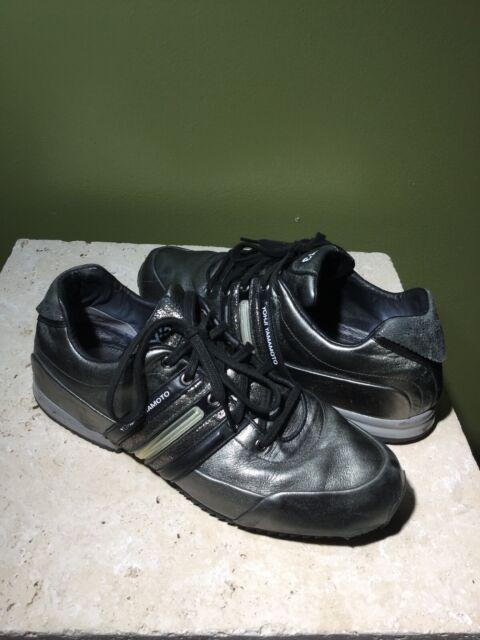 y 3 Yohji Yamamoto adidas Gunmetal Sprint Trainers Sneakers Shoes Men's sz 9