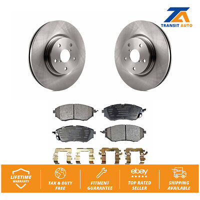 Front Disc Brake Rotor Pair Set for Subaru Legacy Outback WRX Tribeca